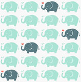 Seamless elephant fabric pattern Stock Photos