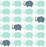 Seamless elephant fabric pattern Stock Photos
