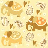 Seamless elephant kids pattern wallpaper backgroun Stock Image