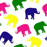 Seamless elephant pattern Stock Image