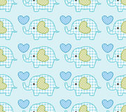 Seamless elephant pattern Royalty Free Stock Photography