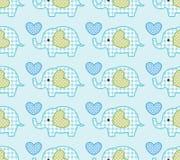 Seamless elephant pattern. Seamless elephant cartoon pattern with blue background Stock Illustration