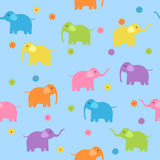 Seamless elephants Royalty Free Stock Photo