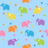 Seamless elephants. Seamless cute colorful elephants background Royalty Free Stock Photo