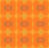 Seamless ellipses and diamond pattern orange gray. Abstract geometric seamless background. Ornate ellipses and diamond pattern in orange shades with gray circles Royalty Free Illustration