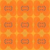 Seamless ellipses and diamond pattern orange gray Stock Photos