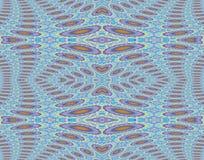 Seamless ellipses and diamond pattern purple blue orange Stock Images