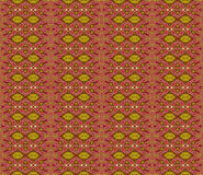 Seamless ellipses and diamond pattern red violet yellow ocher brown Royalty Free Stock Photo