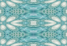 Seamless ellipses and diamond pattern turquoise white gray Stock Image