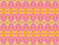 Seamless ellipses and diamond pattern yellow orange violet beige green Stock Photography