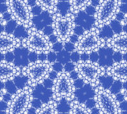 Seamless ellipses pattern azure blue white gray Stock Image