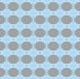 Seamless ellipses pattern gray blue Stock Photography
