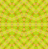 Seamless ellipses pattern lime green orange. Abstract geometric seamless background. Ornate and delicate ellipses pattern in lemon lime, orange, lime green and Vector Illustration