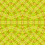 Seamless ellipses pattern lime green orange Stock Image