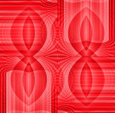 Seamless ellipses pattern pink red shifted Royalty Free Stock Image