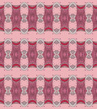 Seamless ellipses pattern pink red violet light gray Stock Photos