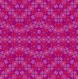 Seamless ellipses pattern pink red violet purple. Abstract geometric seamless background. Ornate and delicate ellipses pattern in bright pink, red, violet vector illustration
