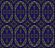 Seamless ellipses pattern purple dark blue green gray netting Royalty Free Stock Image