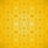 Seamless ellipses pattern yellow gold Royalty Free Stock Photo