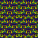 Seamless ellipses pattern yellow green blue purple brown Stock Images
