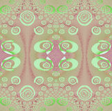 Seamless ellipses and spirals pattern mint green pink violet Royalty Free Stock Photography