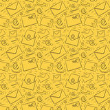 Seamless email pattern Royalty Free Stock Photography