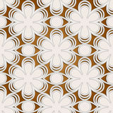 Seamless emboss 02. Stylized seamless floral lace embossed pattern in retro style Stock Photos