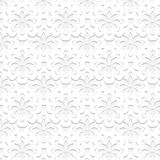 Seamless embossed floral pattern Royalty Free Stock Photo