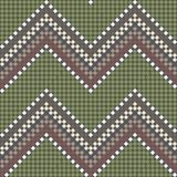 Seamless embroidered handmade ethnic pattern Royalty Free Stock Images