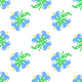 Seamless embroidered texture of abstract  flowers and leaves Stock Photos