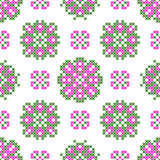 Seamless embroidered texture of abstract patterns for cloth Stock Image