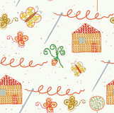 Seamless embroidery pattern Royalty Free Stock Images
