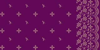 Seamless embroidery pattern royalty free illustration
