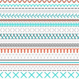 Seamless embroidery pattern. Stock Image