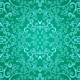 Seamless emerald floral pattern Stock Photos