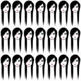Seamless emo face pattern Stock Image