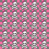 Seamless emo pattern. With skulls Royalty Free Stock Image