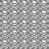 Seamless emo pattern Stock Photo