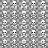 Seamless emo pattern Stock Photo
