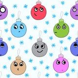 Seamless emotional balls Stock Images