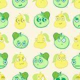 Seamless emotional fruit Stock Images