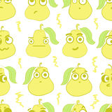 Seamless emotional pears Stock Image