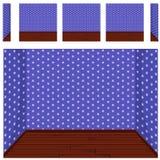 Seamless Empty room background, vector set 8 Stock Image
