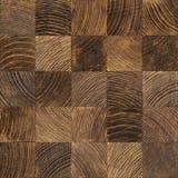 End grain wood texture. Seamless end grain wood texture. Cross cut lumber blocks stock images