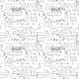 Seamless endless pattern background with handwritten mathematical formulas Stock Photography