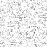 Seamless endless pattern background with handwritten mathematical formulas Royalty Free Stock Images