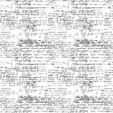 Seamless endless pattern background with handwritten mathematical formulas Royalty Free Stock Photography