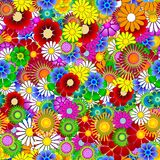 Seamless endless spring flower background Royalty Free Stock Images