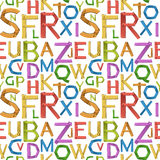 Seamless english alphabet a to z. Illustration Royalty Free Stock Photography