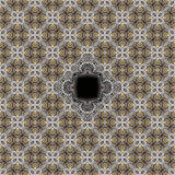 Seamless engraved metalwork pattern. Seamless engraved silver and gold inlay pattern - sacred geometry stock photos